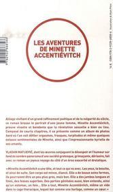 Les aventures de Minette Accentiévitch - 4ème de couverture - Format classique