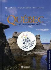 Québec ; 50 sites incontournables - Intérieur - Format classique