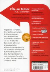 L'île au trésor , de robert louis stevenson - 4ème de couverture - Format classique
