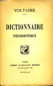 Dictionnaire Philosophique. - Couverture - Format classique