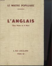 L'Anglais Sans Maitre En 4 Mois - Nouvelle Methode Progressive. - Couverture - Format classique