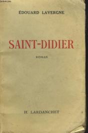 Saint-Didier - Couverture - Format classique