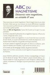 Abc du magnétisme - 4ème de couverture - Format classique