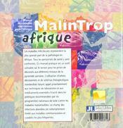 Malintrop Afrique. Manuel De Maladies Infectieuses Pour L'Afrique - 4ème de couverture - Format classique