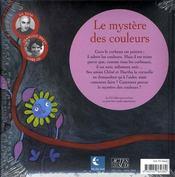 Le mystère des couleurs - 4ème de couverture - Format classique