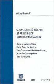 Souverainete fiscale et principe de non discrimination - Couverture - Format classique
