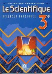 Sciences physiques coll. panafricaine livre de l'eleve 3e - Couverture - Format classique