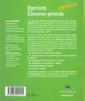 Zoom'S. Exercices D'Economie Generale Avec Corriges Detailles - 4ème de couverture - Format classique