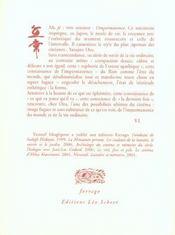 Formes De L'Impermanence - 4ème de couverture - Format classique