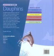 Animaux En Famille ; Dauphins - 4ème de couverture - Format classique