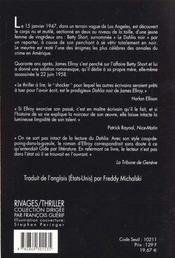 Le dahlia noir - 4ème de couverture - Format classique
