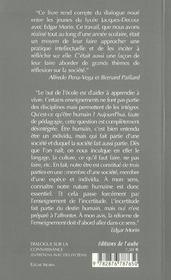 Dialogue Sur La Connaissance - 4ème de couverture - Format classique