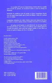Le Temps Des Reves ; 15 Ans De Poesie - 4ème de couverture - Format classique