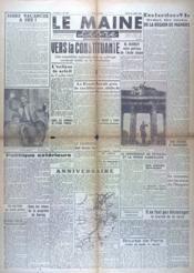 Maine Libre (Le) N°283 du 10/07/1945 - Couverture - Format classique