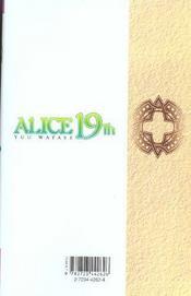 Alice 19th t.2 - 4ème de couverture - Format classique