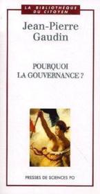 Pourquoi la gouvernance? - Couverture - Format classique