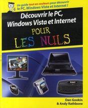 Découvrir le pc, windows vista et internet pour les nuls - Intérieur - Format classique