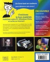 Découvrir le pc, windows vista et internet pour les nuls - 4ème de couverture - Format classique