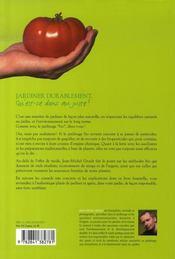 Jardiner durablement ; les solutions bio qui marchent vraiment - 4ème de couverture - Format classique