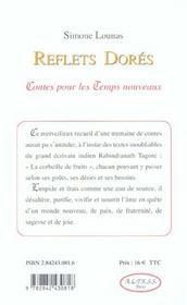 Reflets Dores - Contes Pour Les Temps Nouveaux - 4ème de couverture - Format classique