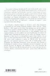 Les sociétés en Europe ; du milieu du VI à la fin du IX siècle - 4ème de couverture - Format classique