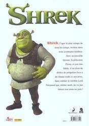 Shrek - 4ème de couverture - Format classique