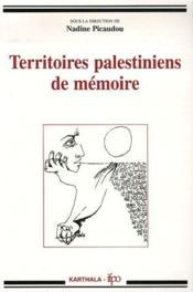 Territoires palestiniens de mémoire - Couverture - Format classique