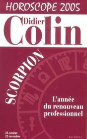 Scorpion: Horoscope 2005 - Intérieur - Format classique