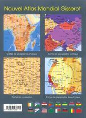 Nouvel atlas mondial Gisserot (édition 2014) - 4ème de couverture - Format classique
