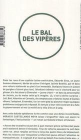 Le bal des vipères - 4ème de couverture - Format classique