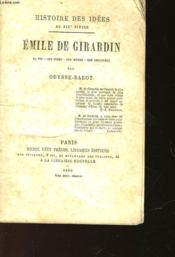 Emile De Girardin - Couverture - Format classique