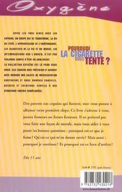 Pourquoi La Cigarette Vous Tente - 4ème de couverture - Format classique
