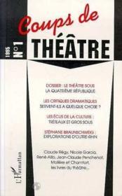 Coups De Theatre N 1 - Couverture - Format classique