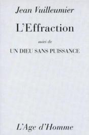 L'Effraction - Couverture - Format classique