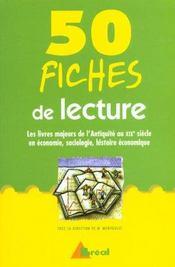 50 fiches de lecture d'histoire et de geographie, d'conomie et de sociologie - Intérieur - Format classique