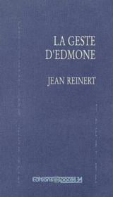 La Geste D'Edmone - Couverture - Format classique