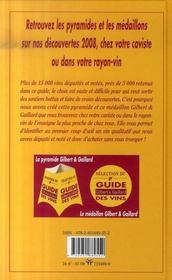 Guide Gilbert et Gaillard des vins (édition 2008) - 4ème de couverture - Format classique