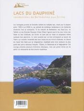 Lacs du Dauphiné ; randonnées de Belledonne aux écrins - 4ème de couverture - Format classique