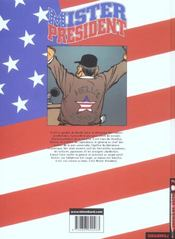 Mister president t.1 - 4ème de couverture - Format classique