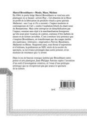 Marcel Broodthaers ; moule, muse, méduse - 4ème de couverture - Format classique