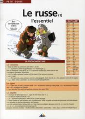 PETIT GUIDE T.140 ; le russe t.1 ; l'essentiel - Couverture - Format classique