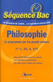 Philosophie terminales series generales et technologiques ; le programme par les grands auteurs - Intérieur - Format classique