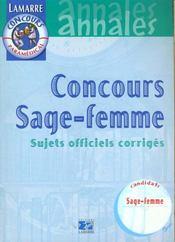 Concours Sage-Femme Sujets Officiels Corriges Annales - Intérieur - Format classique