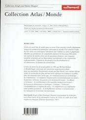 Atlas Du Nouvel Etat Du Monde - 4ème de couverture - Format classique