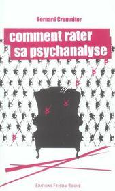 Comment Rater Sa Psychanalyse - Intérieur - Format classique