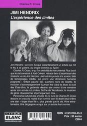 Jimi Hendrix ; l'expérience des limites - 4ème de couverture - Format classique