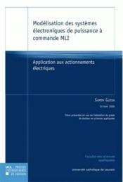 Modelisation Des Systemes Electroniques De Puissance - Couverture - Format classique