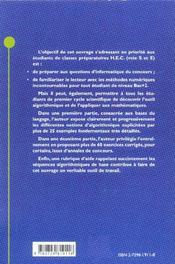L'Informatique En Prepa Hec Turbo Pascal Applique Aux Mathematiques - 4ème de couverture - Format classique