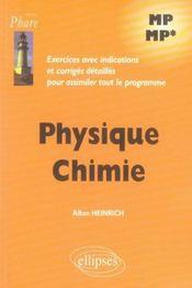 Exercices corrigés physique chimie mp-mp - Intérieur - Format classique