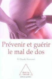 Prévenir et guérir le mal de dos - Intérieur - Format classique